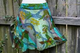 Fair Trade Tree of Life Mini Wrap Skirt