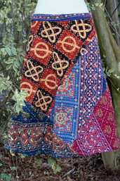 Fair Trade Road Trip Vintage Hippie Patchwork Wrap Skirt
