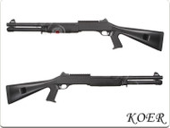 KOER Super 90 Combat Tri Barrel Shotgun Fixed Stock in Black