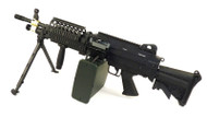 A&K MK46 with Retractable Stock and Bipod Airsoft AEG in Black