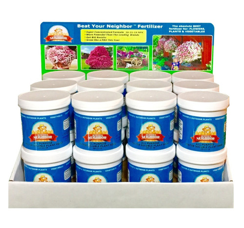 24 jars of Beat Your Neighbor all purpose, water soluble fertilizer. Wholesale Priced!