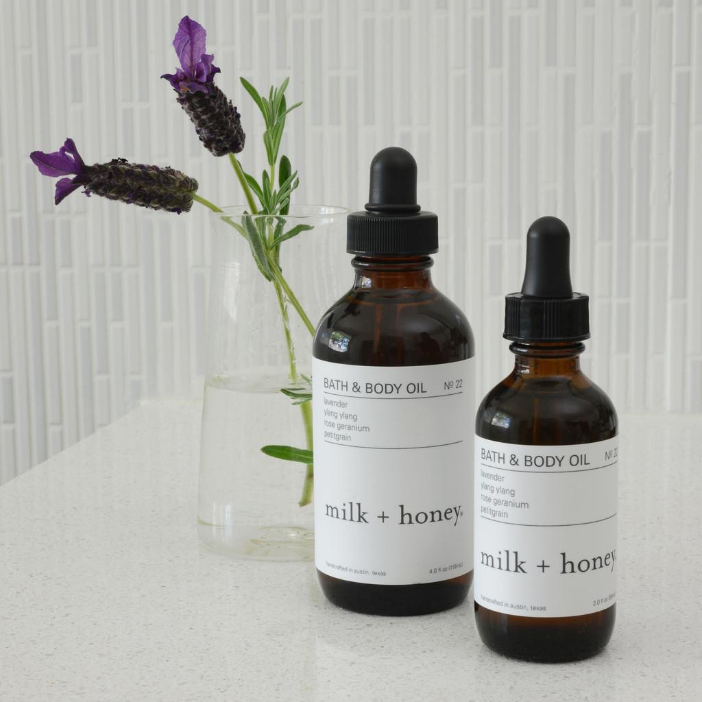 Bath & Body Oil - Ylang Ylang, Rose Geranium, Petitgrain
