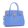 Alyssa Patent Faux Leather Designer Inspired Tote Padlock Style Hand Bag