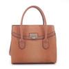 Celina Snakeskin Pattern Embossed Faux Leather Satchel Hand Bag