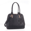 Derica Python Embossed Pattern Faux Leather Satchel Shoulder Hand Bag