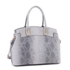 Braylee Python Pattern Embossed Faux Leather Satchel Shoulder Hand Bag