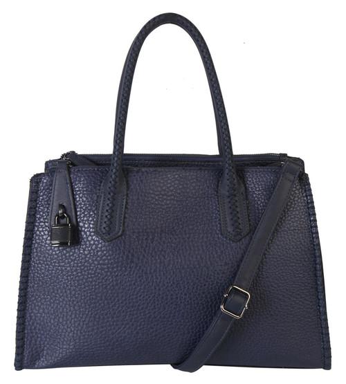 Jaime Navy Designer-Inspired Adjustable Shoulder Bag Satchel Handbag Purse