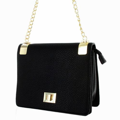 Alyssa Women's Classic Faux Leather Designer Crossbody Shoulder Handbag Purse