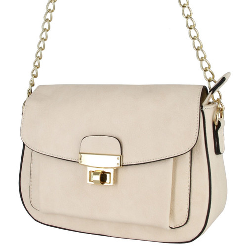 Alyssa Collection Women  Large Flap Cross-Body Bag Handbag Purse