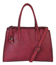 Jaime Burgundy Wine Designer-Inspired Adjustable Shoulder Bag Satchel Handbag Purse