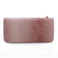 Felicienne Snakeskin Pattern Embossed Faux Leather Wristlet Wallet