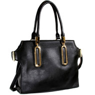 Alyssa Elegant Designer Inspired Faux Leather Tote Shoulder Bag