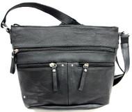Washed Faux Leather beautiful texture care free women's crossbody bag handbag purse