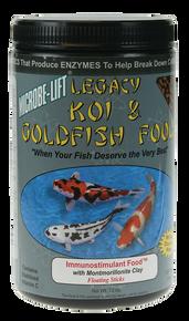 Microbe-Lift Legacy Koi and Goldfish Food - Immunostimulant 10 oz.