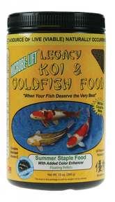 Microbe-Lift Legacy Koi and Goldfish Food - Summer Staple 10 oz