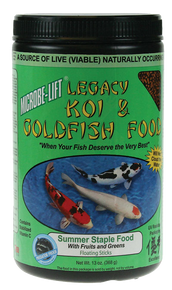Microbe-Lift Legacy Koi and Goldfish food - Fruits and Greens 10 oz.