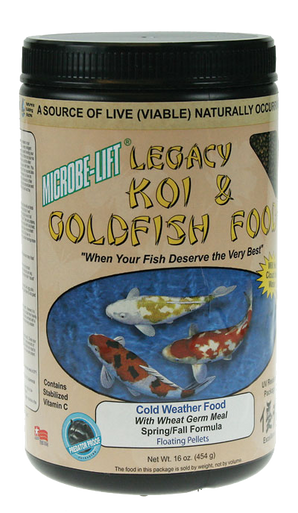 Microbe-Lift Legacy Koi and Goldfish Food - Cold Weather 12 oz.