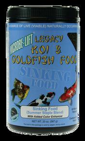 Microbe-Lift Legacy Koi and Goldfish Food - Sinking Pellets 14 oz.