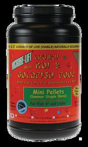 Microbe-Lift Legacy Koi and Goldfish Food - Mini Pellet 2 lb. 4 oz.