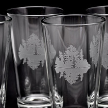 Pint Glass – Set of 4, etched