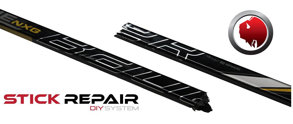 Hockey stick repair system by Bison Hockey Sticks