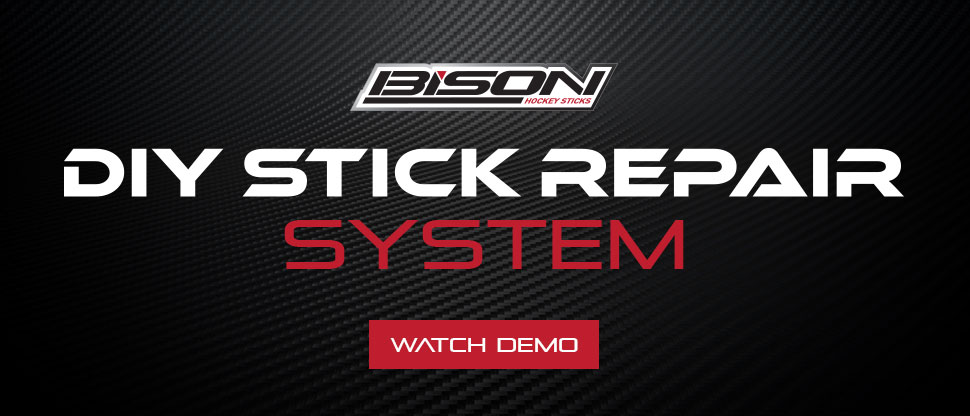 Do it yourself hockey stick repair kit by Bison Hockey Sticks