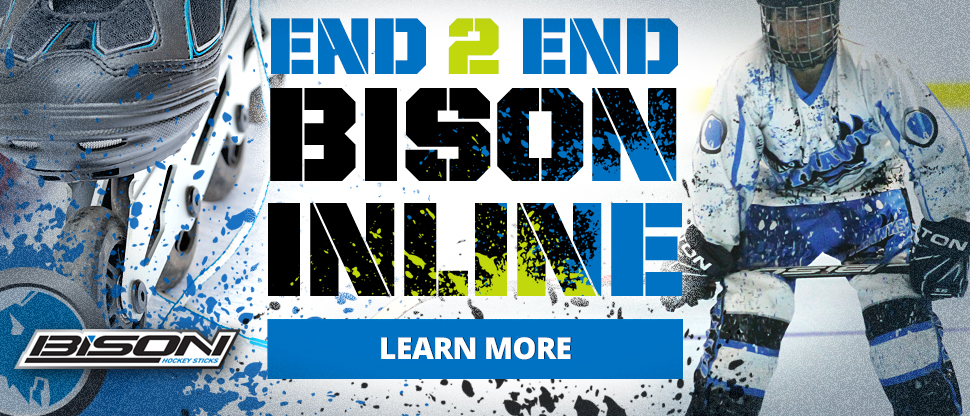 Bison Hockey Sticks are perfect of the ice or inline or ball hockey.