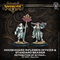 Houseguard Halberdier Officer & Standard Bearer