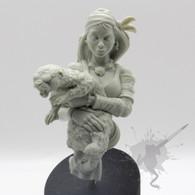 Broken Toad Angel and Salt Resin Bust