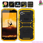"""Yellow Armadillo"" MFOX A10 Pro Rugged Smartphone (Military Grade)"