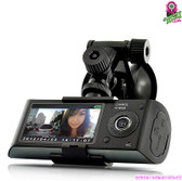 """Road Falcon"" Car DVR / Blackbox - 2.7"" Screen Dual HD Cams GPS Logger G-sensor"