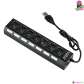 """Meere"" USB Hub - High Speed USB 2.0 (480Mbps) 7 Ports with On/Off Switch"