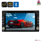 """Vooxo"" 2DIN Car DVD Player - 6.2"" Touchscreen 1080p GPS Bluetooth 4x45W Speaker"