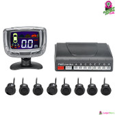 """Octapulse"" Ultrasonic Parking System - 8x Ultrasonic Sensors 2"" LCD Display"