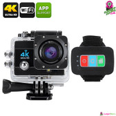 """Trandax"" Q3H Sports Action Camera (Midnight) - 2"" LCD Screen 4K 16MP"
