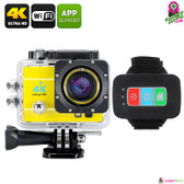 """Trandax"" Q3H Sports Action Camera (Lemon) - 2"" LCD Screen 4K 16MP"