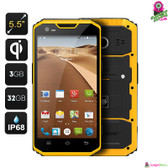 """Alphatone"" Mfox Rugged Smartphone - 5.5"" Display, 4G, GPS + A-GPS, Wireless Charging, Octa-core CPU, 3GB Ram (Android 4.4)"