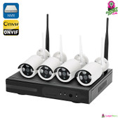 """""""Azuline"""" Wireless NVR Security System - 4x HD Cams, Motion Detection, Night Vision, Waterproof (Android / iOS)"""