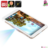 """Visionallo"" Tablet PC & Projector - Revolutionary 2-in-1 Design 8"" HD Screen"