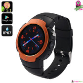 """Shexus"" Smartphone Watch (Fire) - 1.33"" Touchscreen GSM + 3G GPS Quad-core 5MP"