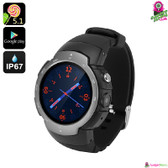 """Shexus"" Smartphone Watch (Flint) - 1.33"" Touchscreen GSM + 3G GPS Quad-core 5MP"
