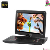 """Sagacious"" Portable DVD Player - 15.6"" TFT LED Wide-Screen, 270° Swivel, Region-free, Game & Copy Function"