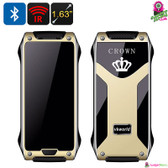 """Crown"" VK World V8 Thermal Touch Smart Phone (Champagne) - 1.63"" Gorilla Glass"