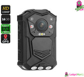 Police Body Camera - 1296p, Night Vision, CMOS Sensor, 140-Degree View