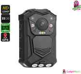 Police Body Worn Camera - 10M Night Vision, 1296p, 140 Degree Lens, C