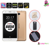 """Ulefone"" Power 2 Smartphone (Gold) - Octa-Core CPU, 4GB, 6050mAh, 4G"