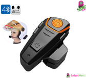 Motorcycle Headset - 1000m Range, Bluetooth, Handsfree Calls, FM Radio