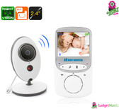 Video Baby Monitor - Two Way Audio, 2.4 Inch Display, Room Temperature