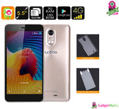"""Geotel Note"" Smartphone (Gold) - 5.5 Inch Display, Quad-core CPU, 3GB Ram, 2 IMEI"