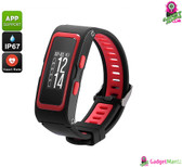 Fitness Tracker Bracelet (Red)